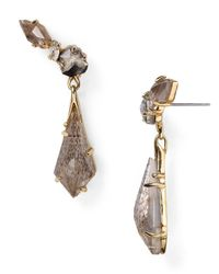 Alexis Bittar | Metallic Miss Havisham Black Moonstone Traveling Post Earrings | Lyst