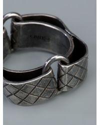 Bottega Veneta - Metallic Curved Embossed Ring for Men - Lyst