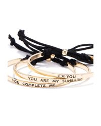 Forever 21 | Black I Love You Bracelet Set | Lyst