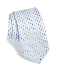 Michael Kors | Metallic 'napper Neat' Geometric Silk Tie for Men | Lyst