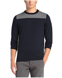 BOSS Green | Blue Cotton-blend Sweater 'rall' for Men | Lyst