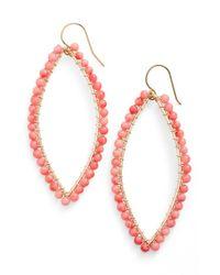 Ki-ele - Pink 'lani' Drop Earrings - Lyst
