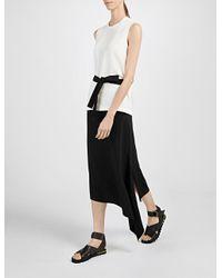 JOSEPH | Black Asymmetric Skirt | Lyst
