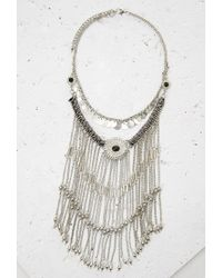 Forever 21 | Metallic Chain Fringe Bib Necklace | Lyst