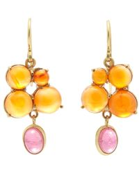 Judy Geib | Orange Carnelian, Pink Tourmaline & Gold Drop Earrings | Lyst