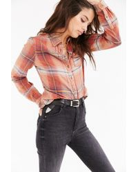 BDG | Orange Katie Flannel Button-down Shirt | Lyst
