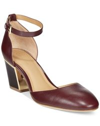 Calvin Klein | Red Keller Ankle Strap Pumps | Lyst