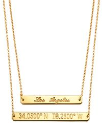 Coordinates Collection | Metallic 22k Gold-plated Layered Equator Pendant Necklace | Lyst