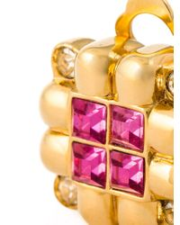 Nina Ricci | Metallic Cut Zirconium Clip-on Earrings | Lyst