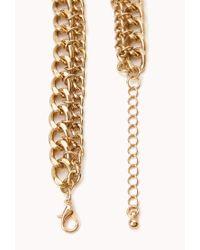 Forever 21 - Green Goddess Teardrop Chain Bib Necklace - Lyst