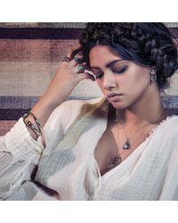 Pamela Love | Metallic Exclusive Reina Pendant In Brass With Moonstone | Lyst