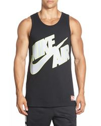 Nike - Black 'air Pivot Sportswear' Graphic Tank for Men - Lyst