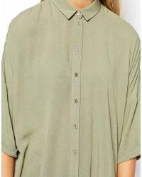 ASOS | Green Petite Crinkle Blouse | Lyst