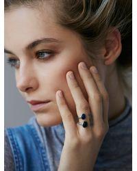 Free People - Blue Womens Orbit Stone Ring - Lyst