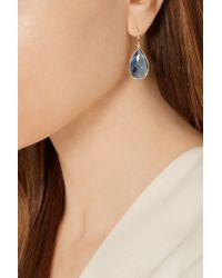 Ippolita - Blue Rock Candy® Teardrop 18-karat Gold Topaz Earrings - Lyst