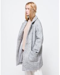 Ganni | Natural Washington St. Wrap Coat | Lyst