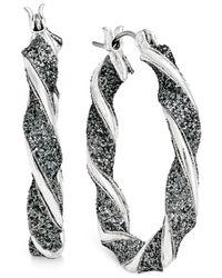 Style & Co. | Metallic Glitter Twist Hoop Earrings | Lyst