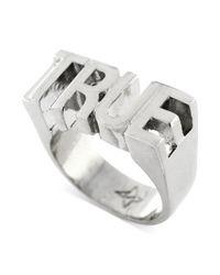 BCBGeneration - Metallic Rhodiumtone True Ring - Lyst