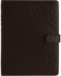 Zagliani - Brown Ostrich Ipad Cover for Men - Lyst