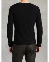 John Varvatos - Black Ls Crewneck Sweater for Men - Lyst