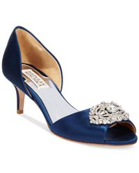 Badgley Mischka | Blue Petrina Two-piece Pumps | Lyst