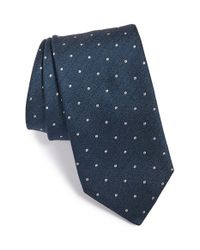 John Varvatos | Blue Dot Silk Blend Tie for Men | Lyst