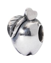 Trollbeads | Metallic Sterling Silver Apple Of Wisdm Charm | Lyst