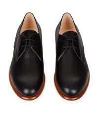 Tod's - Black Gomma Derby Shoe - Lyst