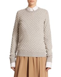 Michael Kors - Gray Pearl Cashmere Sweater - Lyst