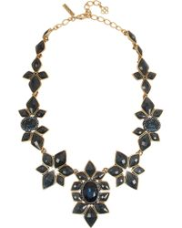 Oscar de la Renta | Black Resin-Facet Necklace | Lyst