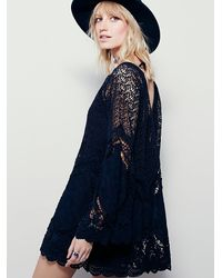 Free People | Black Nikki Amore Dress | Lyst