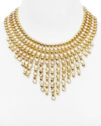 Ralph Lauren | Metallic Lauren Bib Statement Necklace, 16"