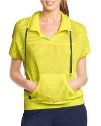 Lauren by Ralph Lauren | Yellow Cotton Drawstring Pullover | Lyst