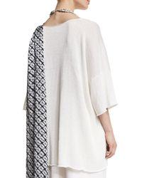 Eskandar - White 3/4-sleeve Sequined Knit Tunic - Lyst