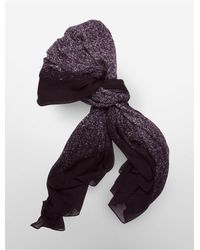 Calvin Klein | Purple White Label Lightweight Watercolor Square Scarf | Lyst