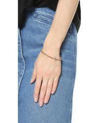 Shashi | Pink Nugget Clasp Bracelet | Lyst