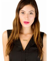 Sarah Chloe | Multicolor Leigh Id Necklace Ships 4 Weeks From Order Date | Lyst