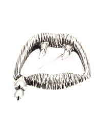 Saint Laurent | Metallic Sterling Silver Brooch | Lyst