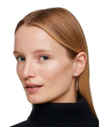 kate spade new york - Metallic Dainty Sparklers Bar Linear Earrings - Lyst