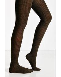 Hansel From Basel | Natural Rib Wool Tight | Lyst