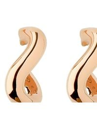 Links of London | Pink Essentials Infinite 18Ct Rose Gold Hoop Earrings - For Women | Lyst