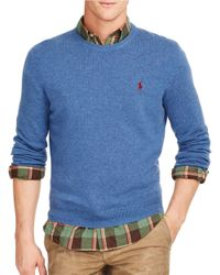 Polo Ralph Lauren | Blue Merino Crewneck Sweater for Men | Lyst