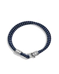David Yurman - Blue Chevron Two-row Bracelet for Men - Lyst