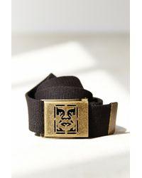 Obey - Black Icon Web Belt for Men - Lyst