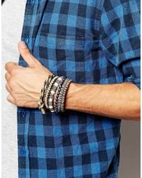 ASOS | Brown Rope Bracelet Pack for Men | Lyst