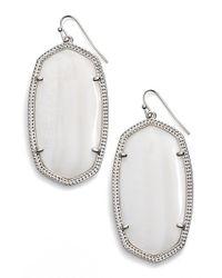 Kendra Scott | White 'danielle - Large' Oval Statement Earrings | Lyst