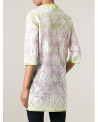 Ermanno Scervino | Multicolor Lace Overlay Cardi-coat | Lyst