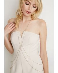 Forever 21 | Metallic Beaded Body Chain | Lyst