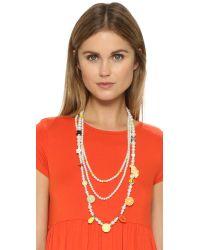 Venessa Arizaga - White Cutie Fruity Imitation Pearl Necklace - Lyst
