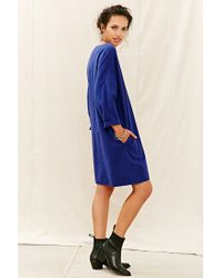 Urban Renewal - Blue Remade Brushed Flannel Shift Dress - Lyst